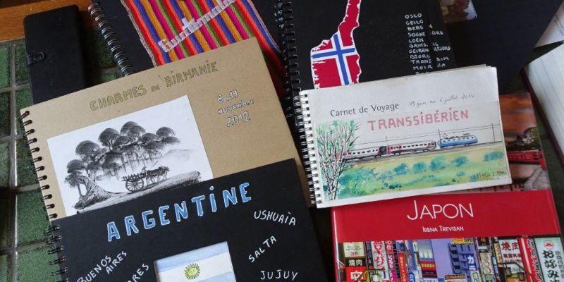Exposition de peinture et carnets de voyage