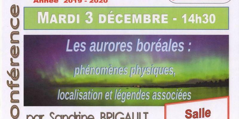 Conférence Université Tous Ages Les aurores boréales