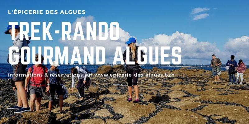 Trek-rando gourmand autour des algues mousterlin