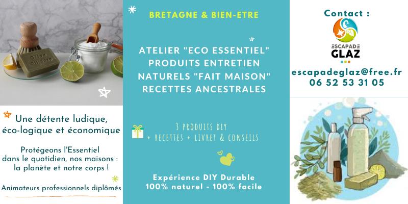 Atelier eco essentiel - je fabrique mes produits dentretien naturels