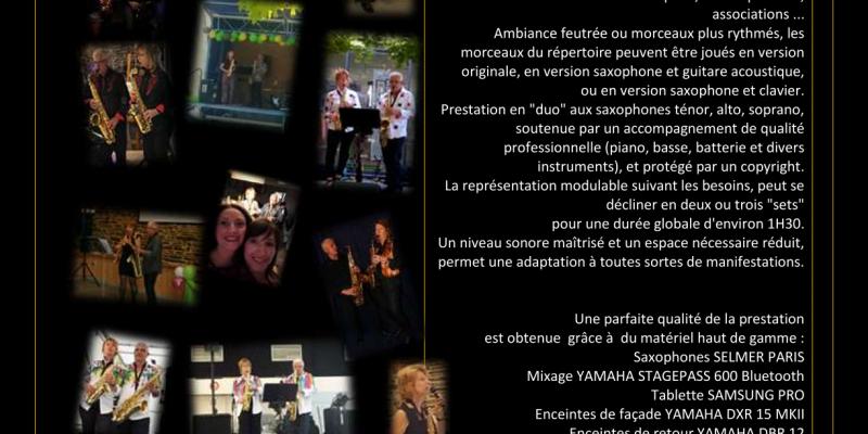 Ansaxony concert et animation musicale au saxophone