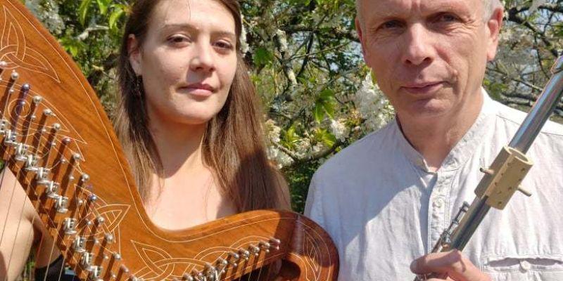 Duo NYGMA en concert(flûtes et harpe)