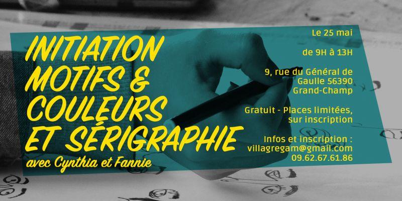 Initiation motifs et couleurs et sérigraphie