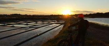 Sortie coucher de soleil en Trottinette tout-terrain électrique GUERANDE