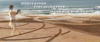 Nouvel an - méditation, visualisation, harmonisation corporelle, mandala sur la plage Clohars carnoët