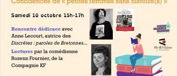Rencontre avec Anne Lecourt, Les Discrètes : paroles de Bretonnes, lectures par Rozenn Fournier Saulnières